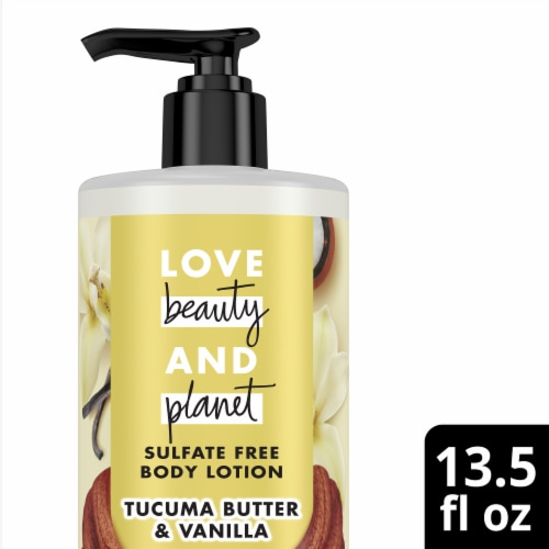 Love Beauty and Planet Tucuma Butter & Vanilla Body Lotion Perspective: front