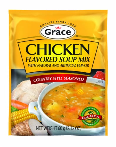 Grace Country Style Seasoned Chicken Flavored Soup Mix Perspective: front