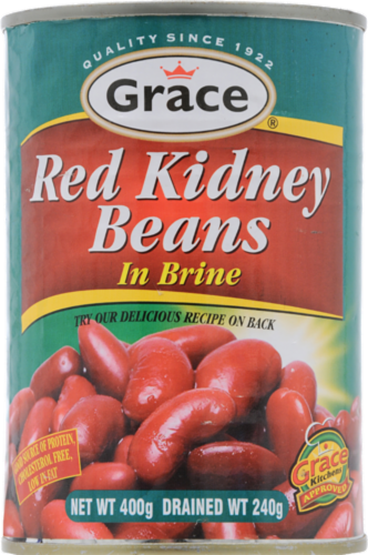 Grace Red Kidney Beans in Brine Perspective: front