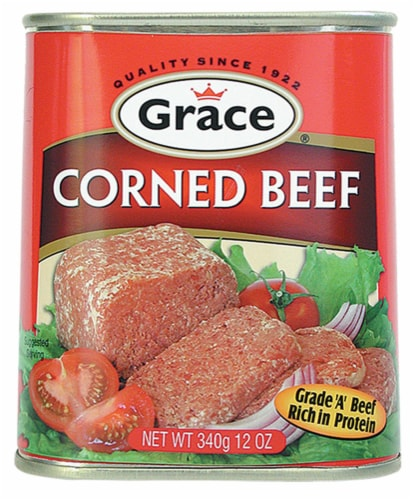 Grace Canned Corned Beef Perspective: front