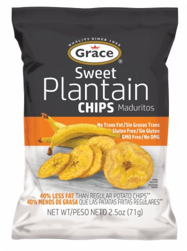 Grace Sweet Plantain Chips Perspective: front