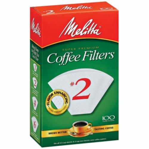 Melitta® #2 Super Premium Paper Cone Coffee Filters - White Perspective: front