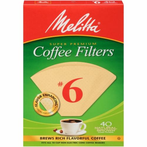Melitta Super Premium #6 Paper Cone Coffee Filters Perspective: front