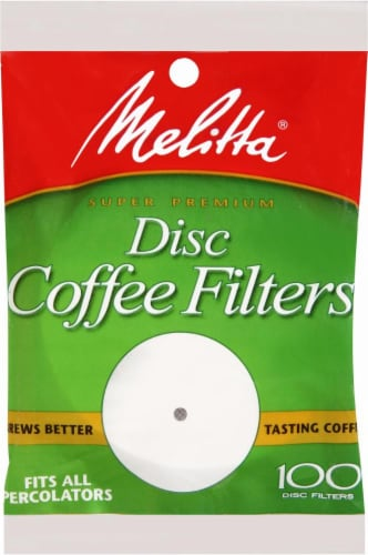 Melitta Paper Disc Coffee Filters Perspective: front