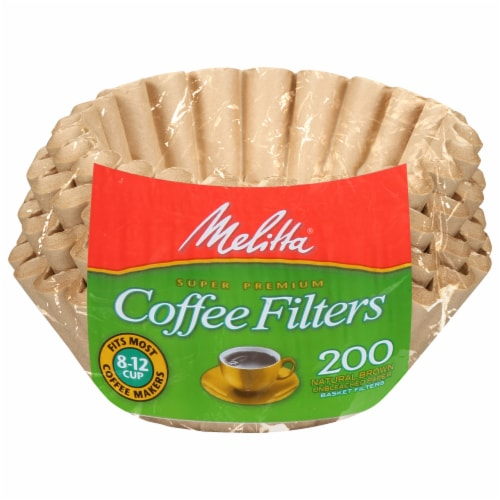 Melitta Paper Basket Coffee Filters - Natural Brown Perspective: front