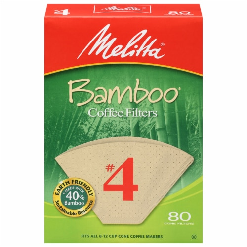 Melitta #4 Bamboo Cone Coffee Filters Perspective: front