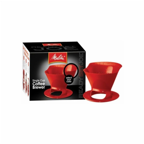Melitta Red Ready Set Joe  Filter Cone  64008 Perspective: front
