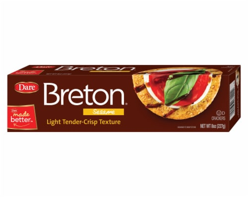 Dare Breton Sesame Thin Wheat Crackers Perspective: front