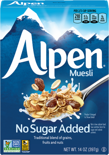 Alpen No Sugar Added Muesli Cereal Perspective: front