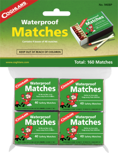 Coghlan's Waterproof Matches 160 Pack Perspective: front