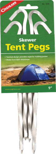 Coghlan's Skewer Tent Pegs - 4 pk Perspective: front