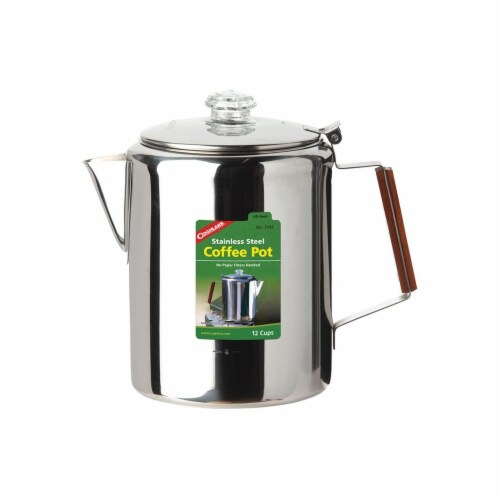 Coghlans Stainless Steel Coffee Pot - Silver Perspective: front