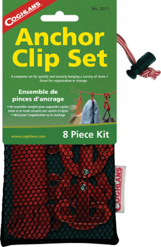 Coghlan's Anchor Clip Set - Red Perspective: front