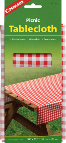 Coghlan's Picnic Tablecloth - Red/White Perspective: front