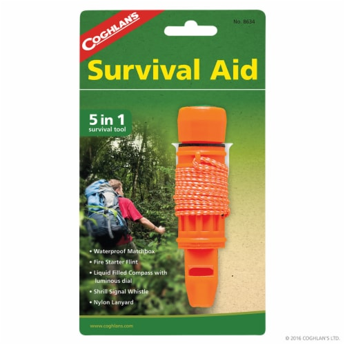 Coghlan's 5-in-1 Survival Aid - Orange Perspective: front