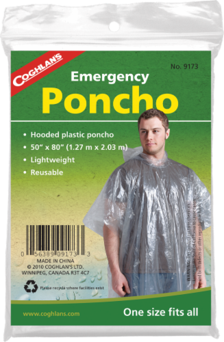 Coghlan's Emergency Poncho - Clear Perspective: front