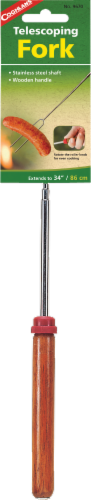 Coghlan's Stainless Steel Telescoping Fork - Silver/Natural Perspective: front