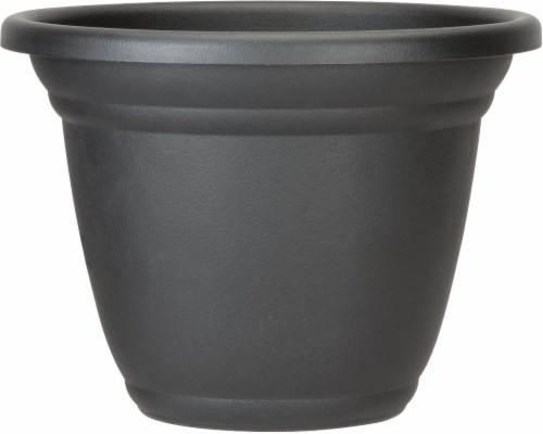 The HC Companies Mojave Planter - Black Perspective: front