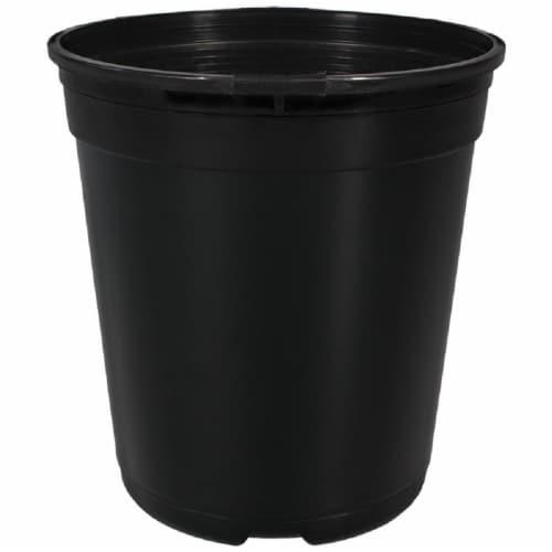 The HC Companies Nursery Gallon Planter - Black Perspective: front