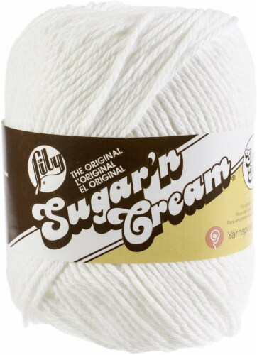 Lily Sugar'n Cream Yarn - Solids Super Size-White Perspective: front
