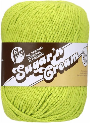 Lily Sugar'n Cream Yarn - Solids Super Size-Hot Green Perspective: front