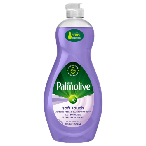Palmolive Ultra Soft Touch Almond Milk & Blueberry Scent Dish Liquid Perspective: front