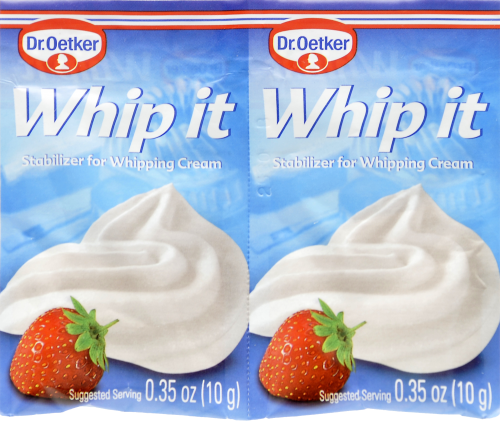 Dr. Oetker Whip It Stabilizer for Whipping Cream Perspective: front