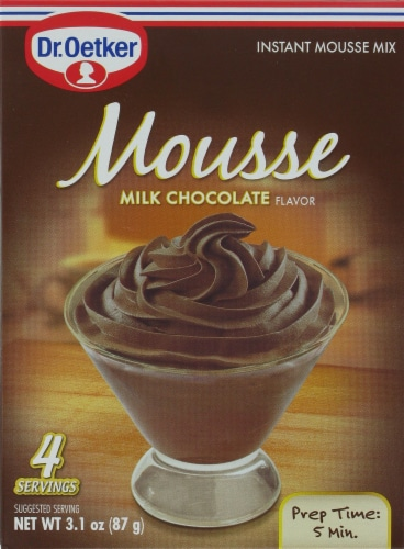Dr. Oetker Milk Chocolate Mousse Mix Perspective: front