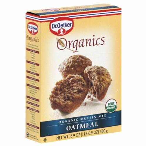 Dr. Oetker Organics Oatmeal Muffin Mix Perspective: front