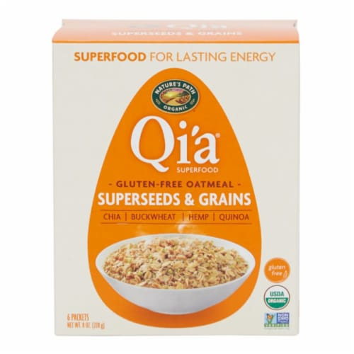 Nature's Path Organic Gluten-Free Qi'a Superfood Superseeds & Grains Oatmeal Perspective: front