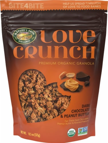 Nature's Path Organic Love Crunch Dark Chocolate and Peanut Butter Granola Perspective: front