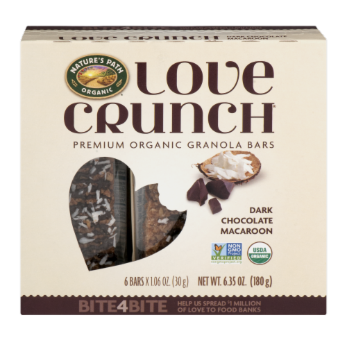Nature's Path Organic Love Crunch Dark Chocolate Macaroon Bars Perspective: front