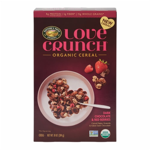 Nature's Path Organic Love Crunch Dark Chocolate and Red Berries Cereal Perspective: front