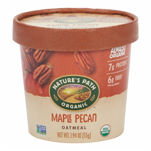 Nature's Path Organic Maple Pecan Oatmeal Cup Perspective: front