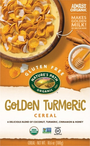 Nature's Path Organic Golden Turmeric Cereal Perspective: front