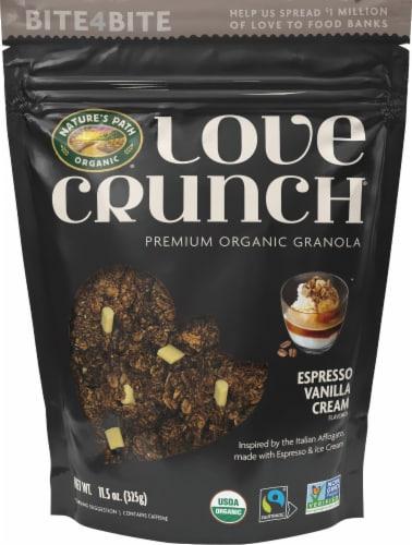 Nature's Path Organic Espresso Vanilla Cream Flavored Love Crunch Premium Organic Granola Perspective: front