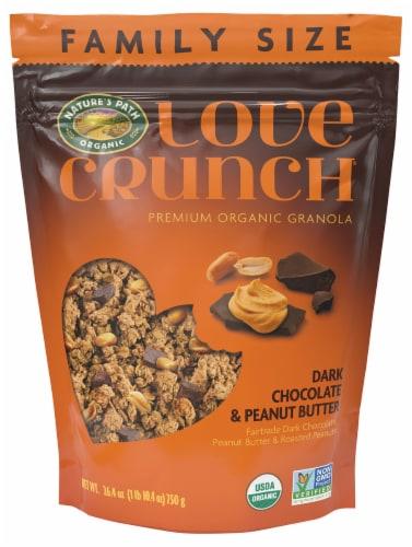 Nature's Path Organic Love Crunch Dark Chocolate & Peanut Butter Granola Perspective: front