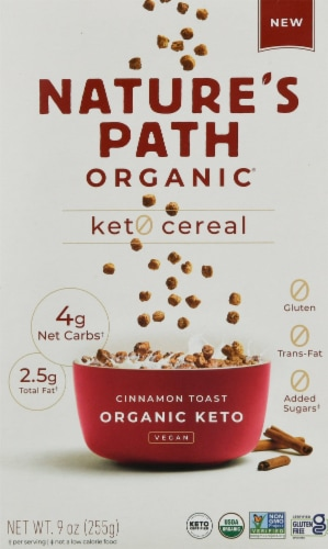 Nature's Path Organic Cinnamon Toast Keto Cereal Perspective: front