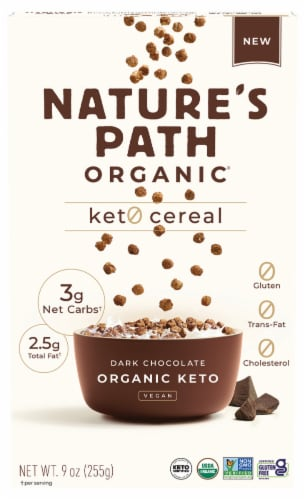 Nature's Path Organic Original Chocolate Keto Cereal Perspective: front