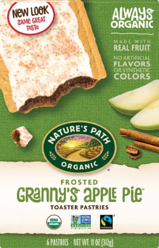 Nature's Path Organic Frosted Apple Cinnamon Toaster Pastry Perspective: front