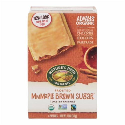 Nature's Path Organic Frosted Mmmaple Brown Sugar Toaster Pastries Perspective: front