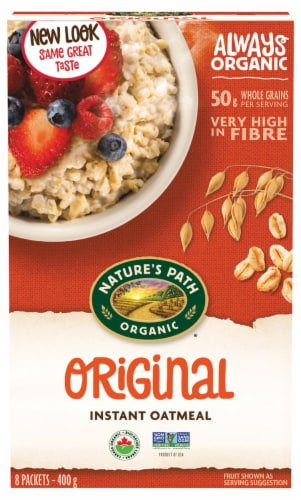 Nature's Path Organic Original Hot Oatmeal 8 Count Perspective: front