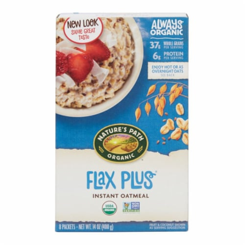 Nature's Path Organic Flax Plus Instant Oatmeal Packets Perspective: front