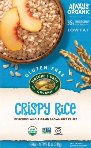 Nature's Path Organic Crispy Rice Whole Grain Brown Rice Cereal Perspective: front