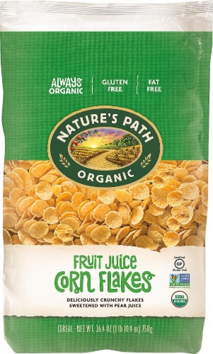 Nature's Path Organic Fruit Juice Corn Flakes Cereal Perspective: front