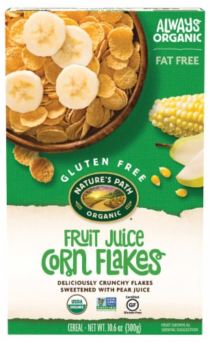 Nature's Path Organic Corn Flakes Cereal Perspective: front