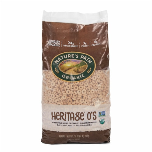 Nature's Path Organic Heritage O's Multigrain Cereal Perspective: front