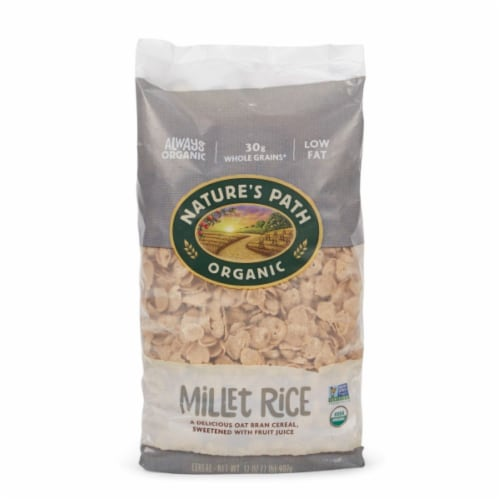 Nature's Path Organic Millet Rice Oat Bran Cereal Perspective: front