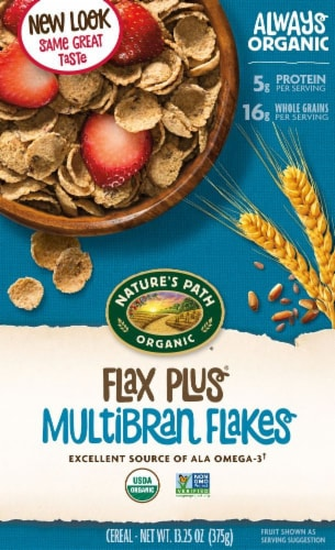 Nature's Path Organic Flax Plus Multibran Flakes Cereal Perspective: front