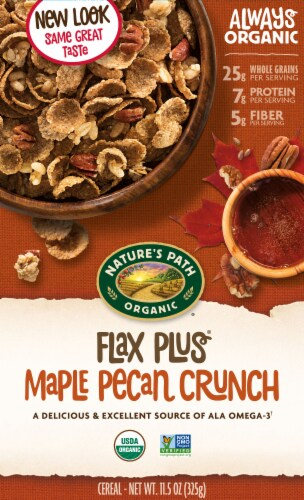 Nature's Path Organic Flax Plus Maple Pecan Crunch Cereal Perspective: front
